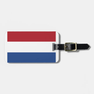 Netherland Holland Patriotic Pattern Luggage Tag