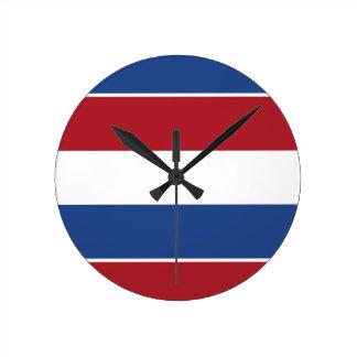 Netherland Holland Patriotic Pattern Round Clock