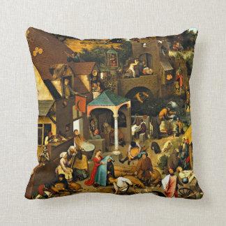 Netherlandish Proverbs-1559 Pieter Bruegel Elder Throw Pillow