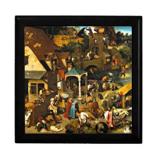 Netherlandish Proverbs, Pieter Bruegel painting Gift Box