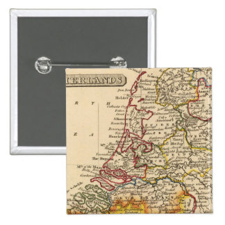 Netherlands 3 2 inch square button