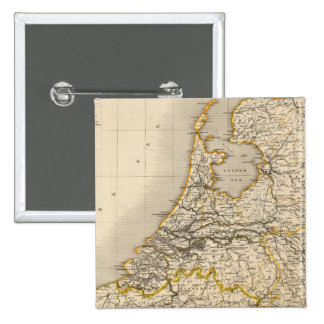 Netherlands and Belgium 2 2 Inch Square Button