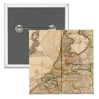 Netherlands and Belgium 2 Inch Square Button