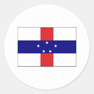Netherlands Antilles FLAG International Classic Round Sticker