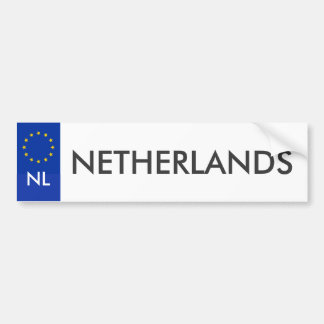 Netherlands Car License Sticker