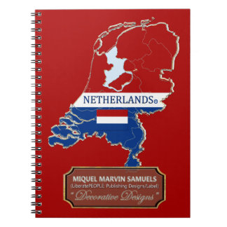 Netherlands Country Flag Colors Modern Notebook
