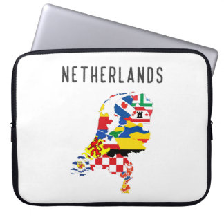 Netherlands country regions province flag map symb laptop sleeve