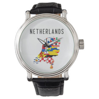Netherlands country regions province flag map symb watch