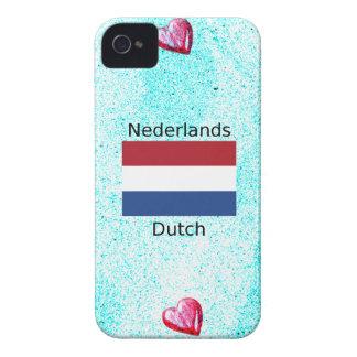 Netherlands Flag And Dutch Language Design iPhone 4 Case-Mate Case