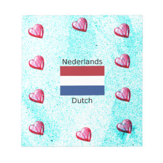 Netherlands Flag And Dutch Language Design Notepad