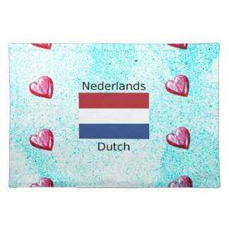 Netherlands Flag And Dutch Language Design Placemat