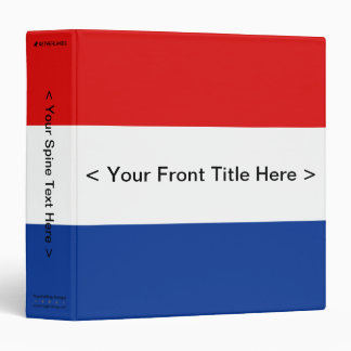 Netherlands Flag Binder