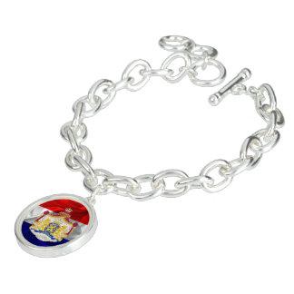 Netherlands flag charm bracelet