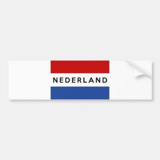 netherlands flag country nederland text name dutch bumper sticker