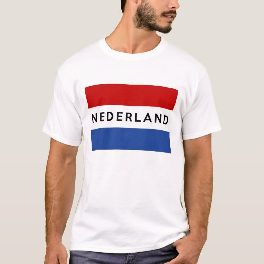 netherlands flag country nederland text name dutch T-Shirt