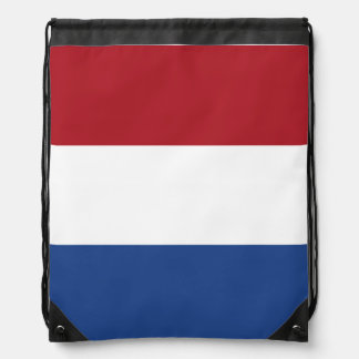 Netherlands Flag Drawstring Bag