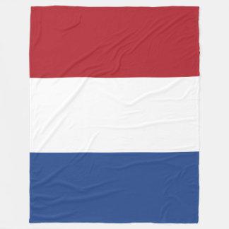 Netherlands Flag Fleece Blanket