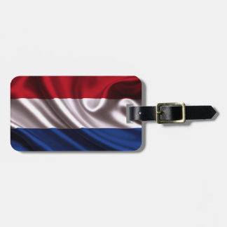 Netherlands flag for Luggage-Tag-leather-strap Luggage Tag