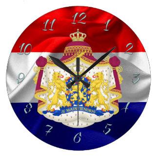Netherlands flag large clock