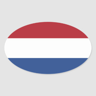 Netherlands* Flag Oval Sticker