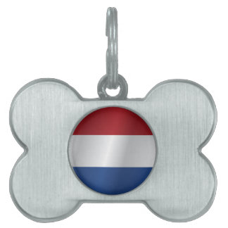 Netherlands flag pet name tag