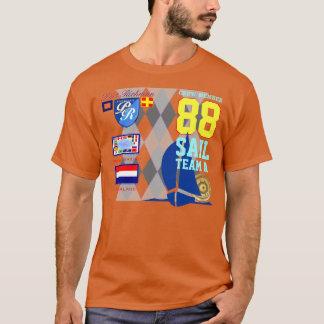 Netherlands Flag Sail Number 88 Nautical Argyle T-Shirt
