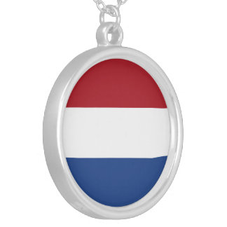 Netherlands Flag Silver Plated Necklace