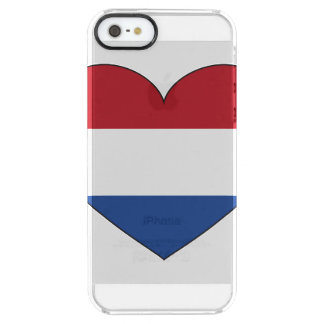 Netherlands Flag Simple Clear iPhone SE/5/5s Case