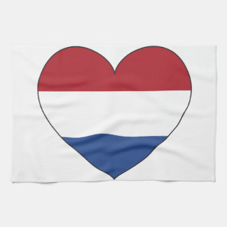 Netherlands Flag Simple Kitchen Towel