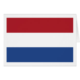 Netherlands Flag The MUSEUM Zazzle Greeting Card