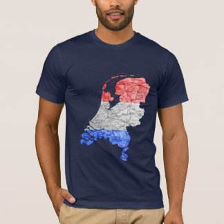 Netherlands Flagcolor Map T-Shirt