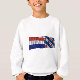 Netherlands & Friesland Waving Flags Sweatshirt