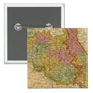 Netherlands, Germany W of Rhine 2 Inch Square Button