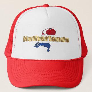 Netherlands (Holland) Dutch flag log gear Trucker Hat