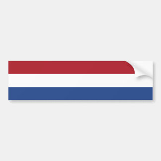 Netherlands/Holland/Dutch/Hollander Flag Bumper Sticker