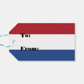 Netherlands Holland Patriotic Pattern Gift Tags