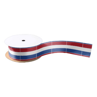 Netherlands Holland Patriotic Pattern Satin Ribbon