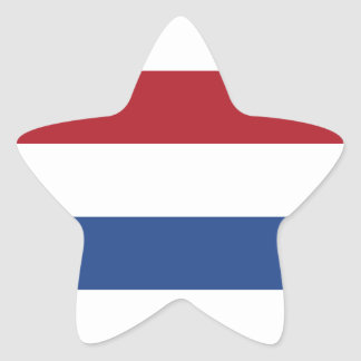 Netherlands Holland Patriotic Pattern Star Sticker