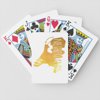Netherlands Map Bicycle Playing Cards
