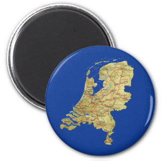 Netherlands Map Magnet