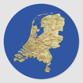 Netherlands Map Sticker