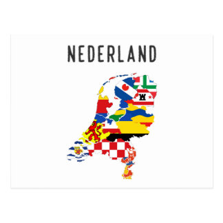 Netherlands nederland name text country regions pr postcard