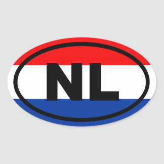 Netherlands NL European Oval Sticker