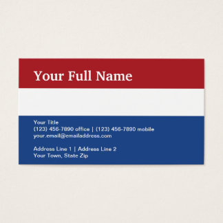 Netherlands Plain Flag Business Card