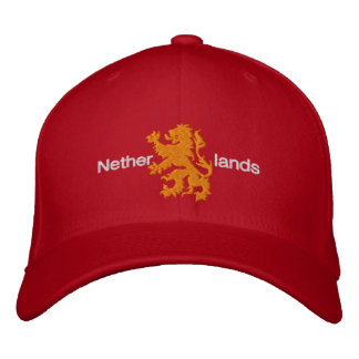 Netherlands Red and Orange Rampant Lion Cap