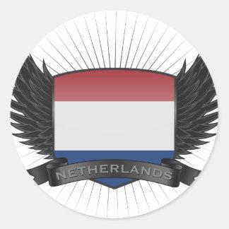 NETHERLANDS ROUND STICKER
