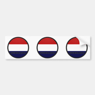 Netherlands Roundel quality Flag Bumper Sticker