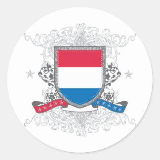 Netherlands Shield Round Sticker