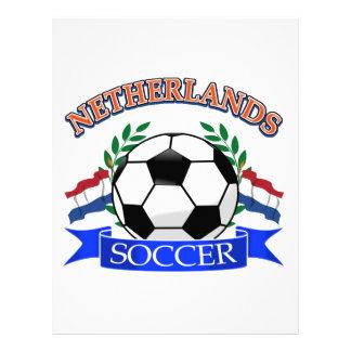 Netherlands soccer ball designs letterhead