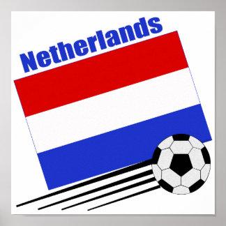 Netherlands Soccer Team Poster